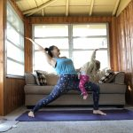 yoga with a toddler