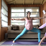 yoga flow for strong legs with my daughter