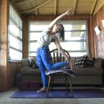take a yoga break in your chair