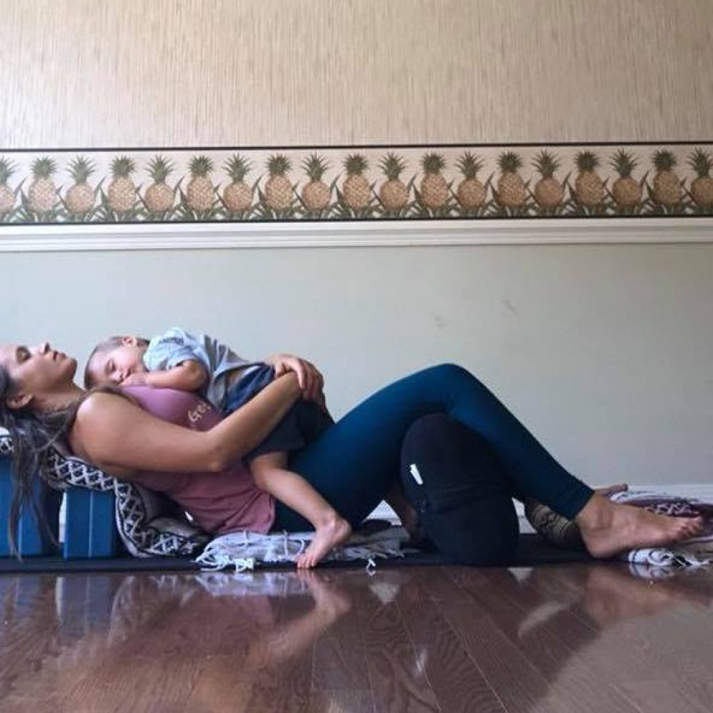 restorative yoga for moms with young kids